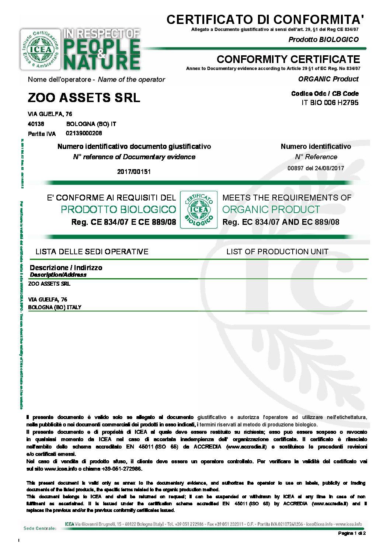 certificato bio